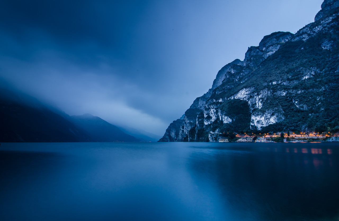 Blue Hour At Lake Garda