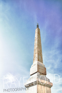Obelisco Sallustiano at the top of the Spanish Steps in Rome.
