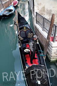 Gondelier in Venice.