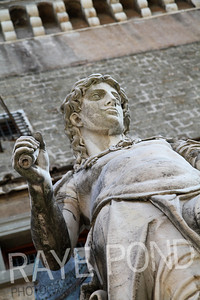 Statue of David at Castel Sant' Angelo in Rome.