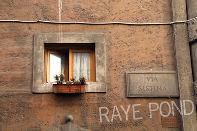 Via Sistina in Rome.