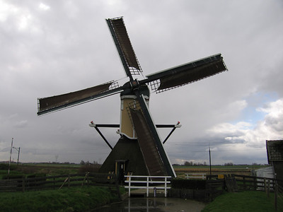 Scheprad in 1939 vervangen door een schroefpomp met vliegwiel ivm dalen polder. Polder 170 ha.