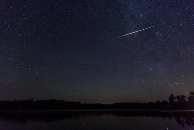 Perseid Meteor & Big Dipper, Jacks Lake, Ontario, Canada.