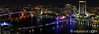 Panorama of a colorful city.  Jax.