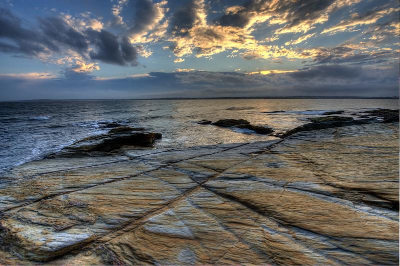Sunset West Passage from Beavertail, Jamestown, RI