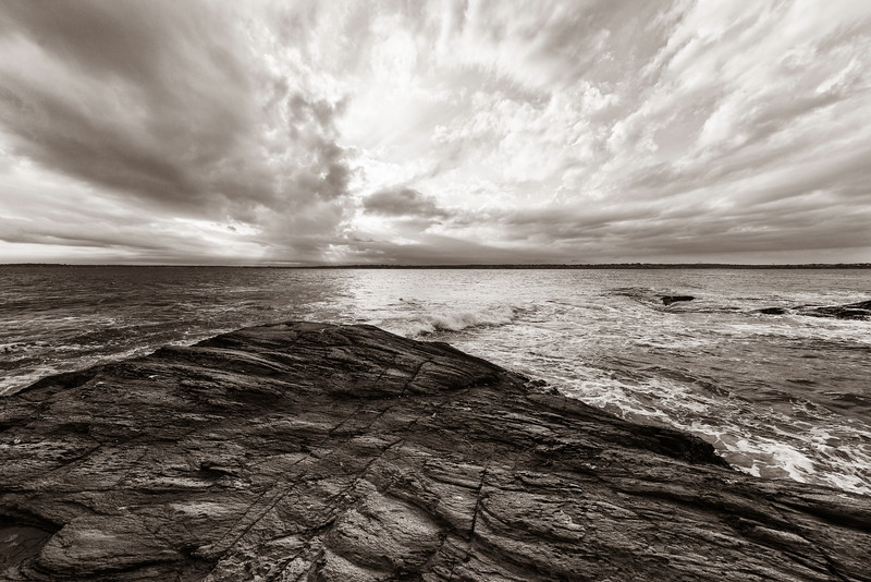 South End of Jamestown Rhode Island at Beavertail Point