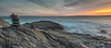 Sunset West Passage Narragansett Bay. Beavertail State Park, Jamestown, R.I.