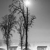 76  G Moon, Snow and Fog Battle Ground BW V