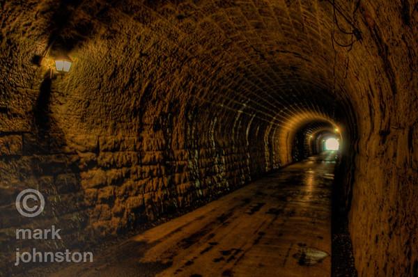The old Amagi Tunnel in the mountains of the Izu Peninsula, Shizuoka Prefecture, Japan.