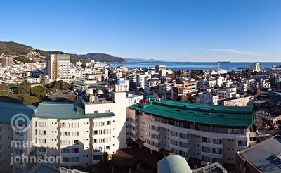 A crisp winter morning in the city of Ito on the eastern coast of the Izu Penninsula, Shizuoka Prefecture, Japan.