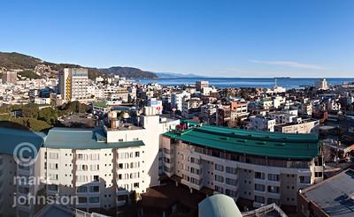 A crisp winter morning in the city of Ito on the eastern coast of the Izu Penninsula, Shizuoka Prefecture, Japan.