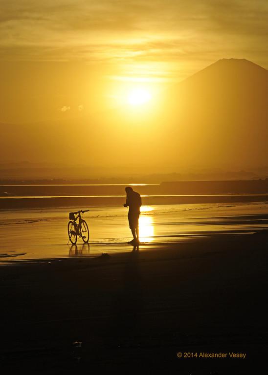 Evening biker