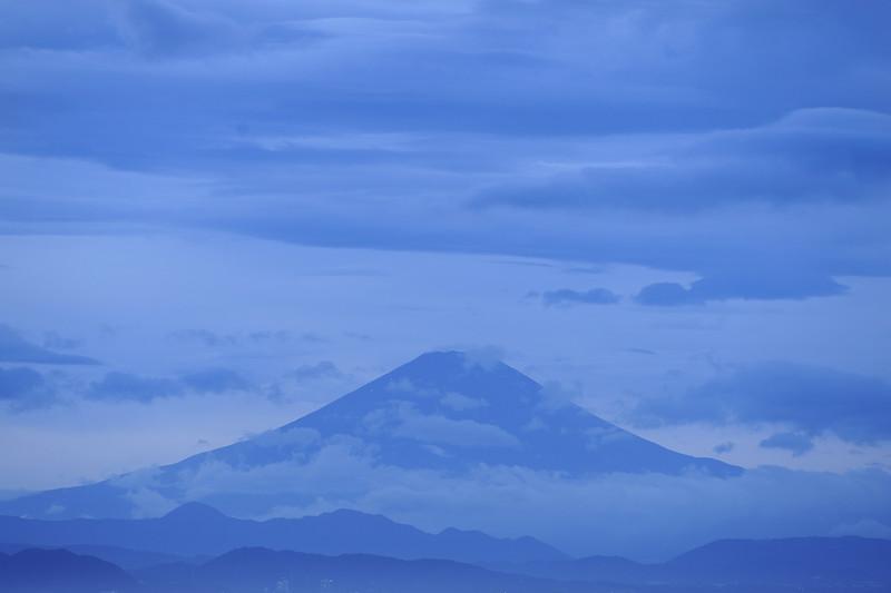 Blue Fuji at Dusk