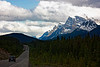 From Icefields Parkway, driving toward Banff.