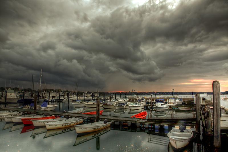 Stormy Belmar Marina