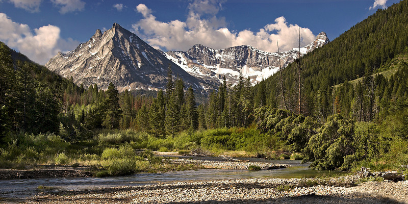 Pioneer Mountains. Idaho mountain landscape. Photo by Mike Reid, All Outdoor Photography.
