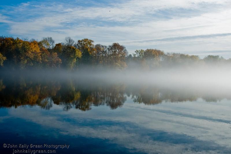 Morning Mist Rising - Upper Black Eddy, PA