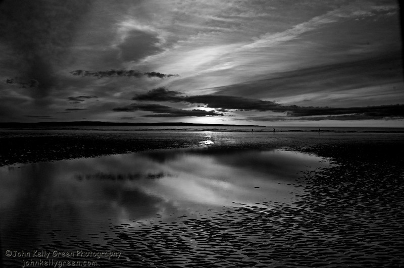 Irish Sky at Inniscrone, Co. Mayo, Ireland Midnight
