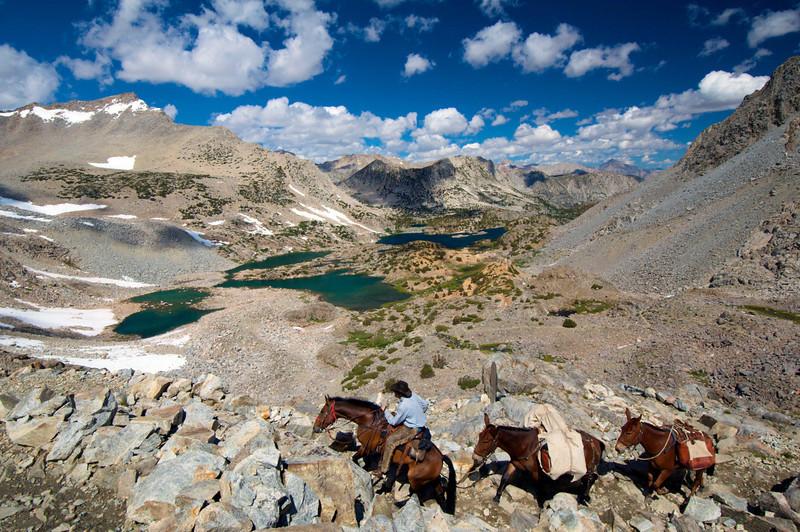 Bishop Pass, Bishop Lake, Saddlerock Lake, John Muir Wilderness.