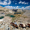 Bishop Pass, Bishop Lake, Saddlerock Lake, John Muir Wilderness.