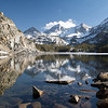 Long Lake, Bear Creek Spire, Mt. Dade, Mt. Abbot, Little Lakes Valley, John Muir Wilderness
