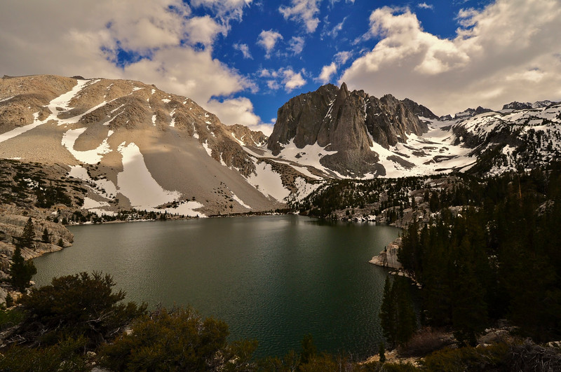 Third Lake, Temple Crag, Palisades Glacier, John Muir Wilderness, Big Pine, CA.