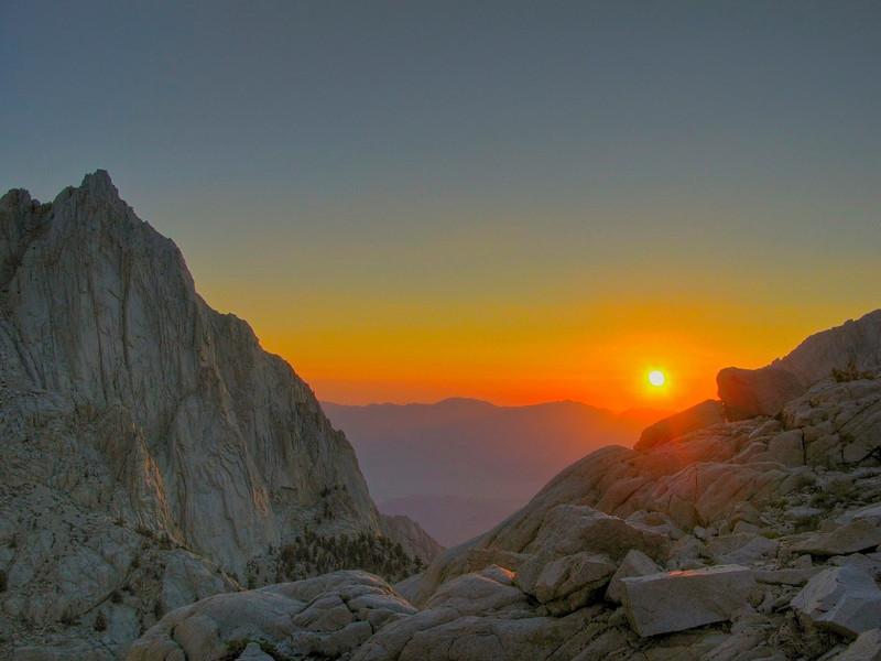 Whitney Portal Sunrise, John Muir Wilderness