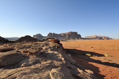 The completely alien landscape of Wadi Rum.