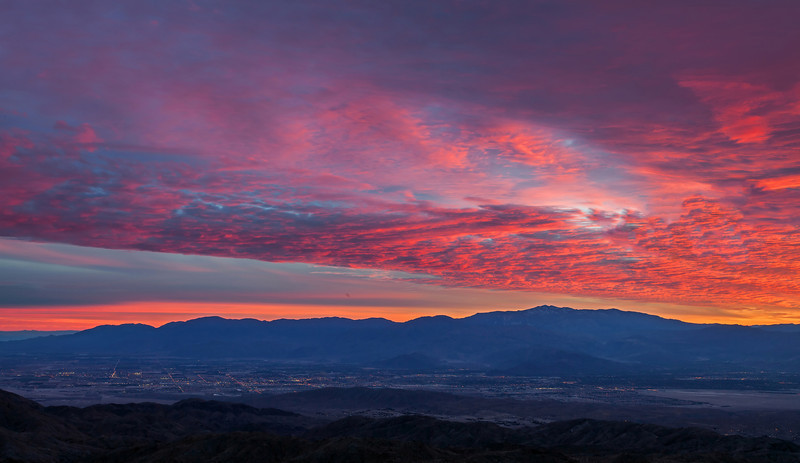 Sunset over Palm Springs, from Key's View.