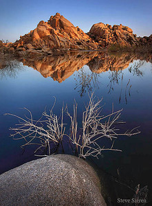 Reflection at the Barker Dam at Johsua Tree National Park