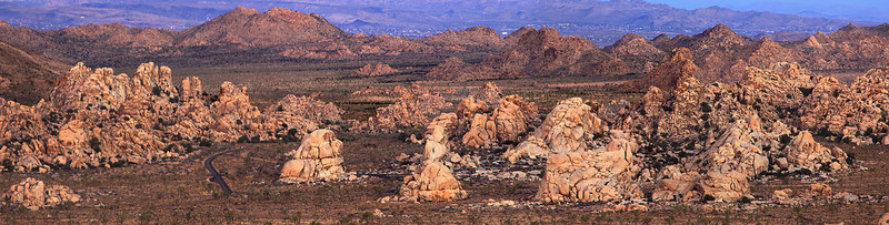 Hidden Valley Panorama Joshua Tree