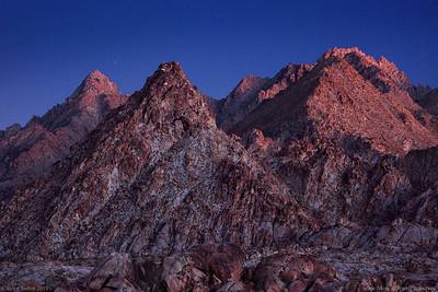 Joshua Tree Coxcomb Mountains Pyramids Alpen Glow