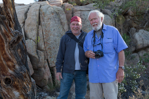 Me and David Muench, Americas one of Americas premier color landscape photographer at Joshua Tree.