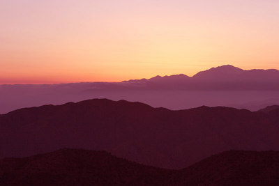 The sun setted behind Mt. San Gorgonio.