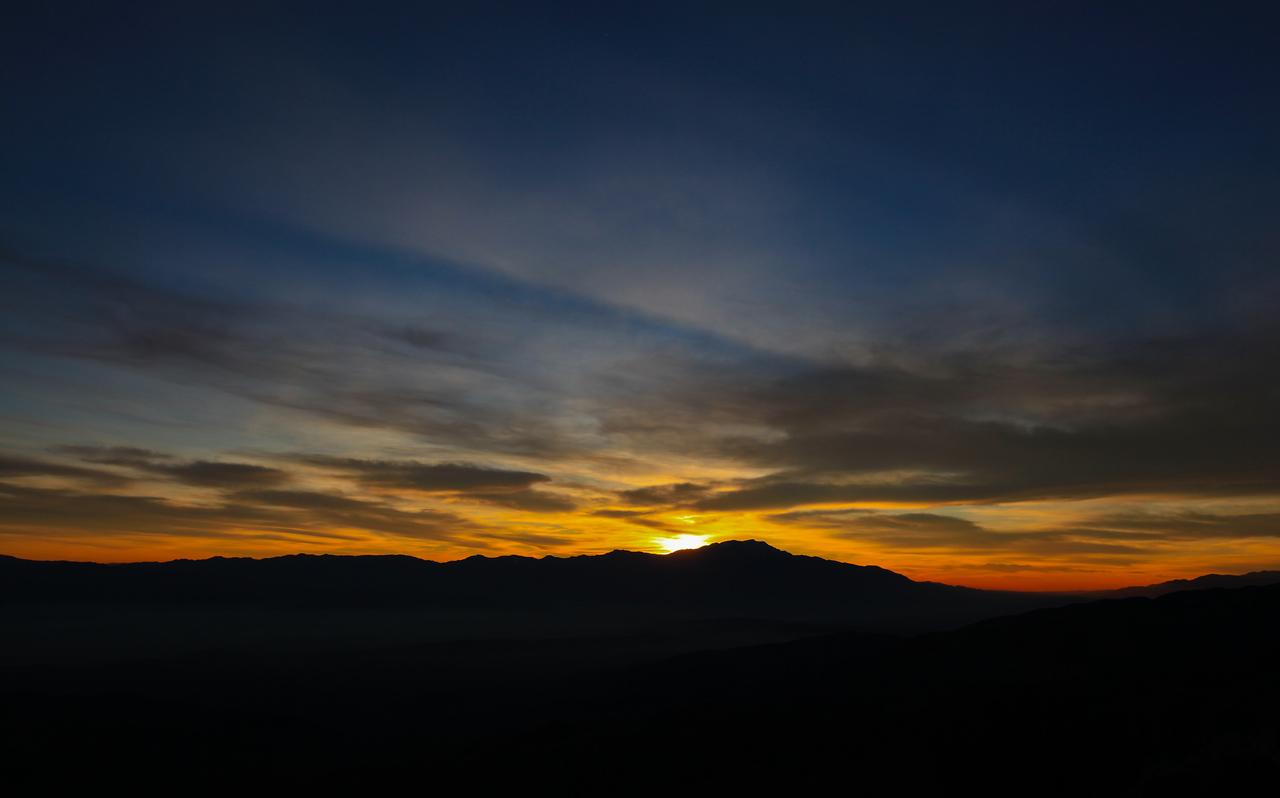 Keys View at sunset - Joshua Tree National Park