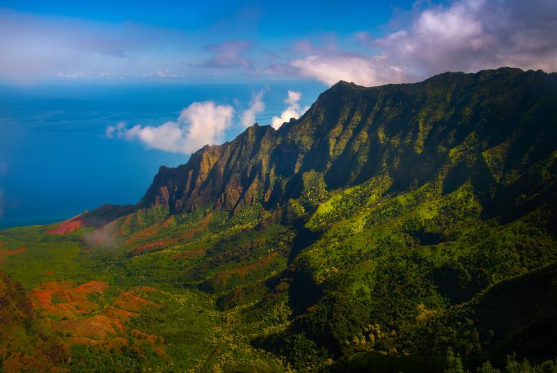 Tropical Views From The Top Of Waimea Canyon - Kalalau Valley, Waimea Canyon, Kauai, Hawaii