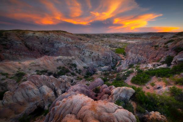 Colorful Bubble Rocks Leading Down Casper, Wyoming