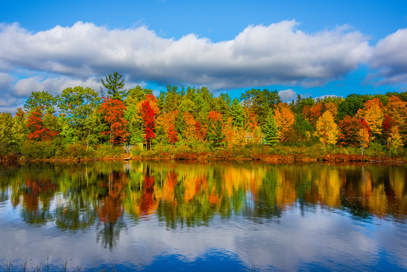Mirror Like Afternoon Relflections Of Autumn