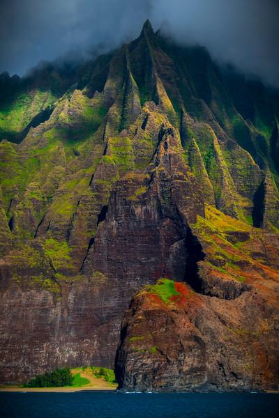 Mystery Above The Peaks - Na Pali Coastline, Kauai, Hawaii