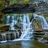 A Meeting Of Waterfalls In The Middle - - Robert Treman Park, Finger Lakes Region, Upstate NY, NY