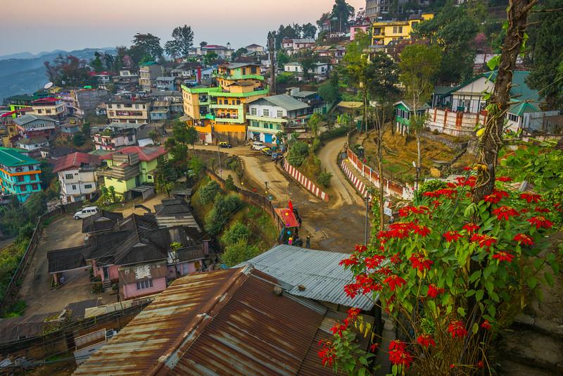 Dusk Settles On The Hillsides Of Kohima - Kohima, North-Eastern India