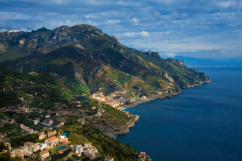 Scattered Light Within The Amalfi Mountainside - Ravello, Amalfi Coast, Campania, Italy