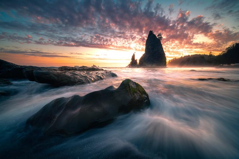 Moments Of Last Light On Rilato Beach -    Rialto Beach, Olympic National Park, Washington