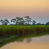 Sunset Colors Reflected In River Kaziranga National Park, Assam, North-Eastern India