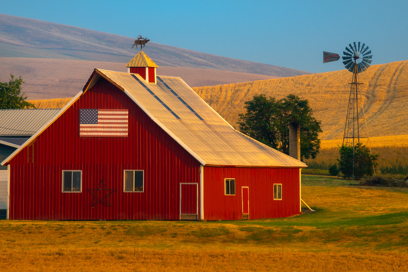 American Pride In The Palouse - Palouse, Eastern Washington
