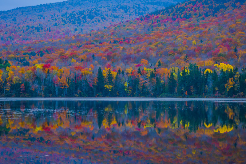 Mirror Reflections After Dusk - Vermont