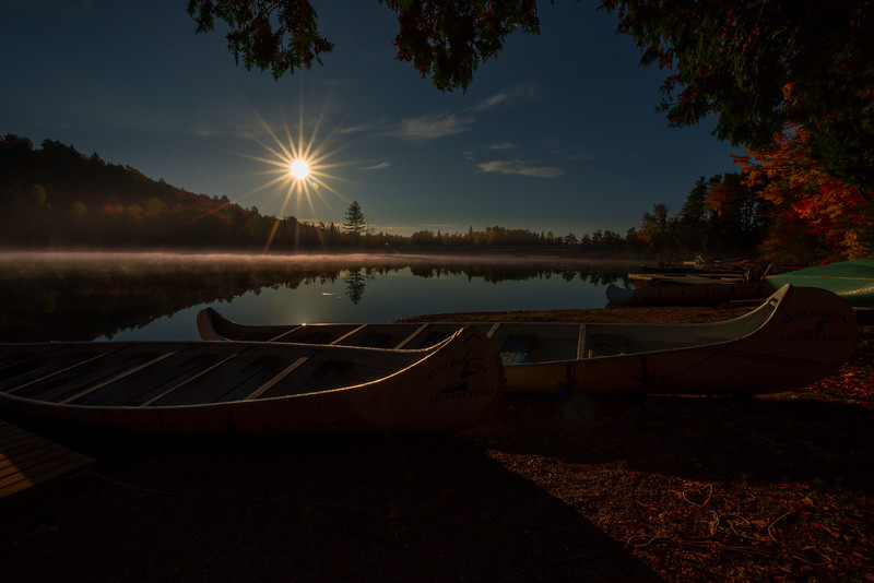 Under A Full Moon On The Lake - Algonquin Provincial Park, Nipissing, South Part, Ontario, Canada
