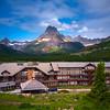 Scattered Light On Grinnel Peak - Swiftcurrent Lake, Many Glacier Hotel, Glacier National Park, Montana