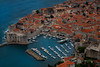 Looking Down On The Old Town Dubrovnik Marina - Dubrovnik, Croatia