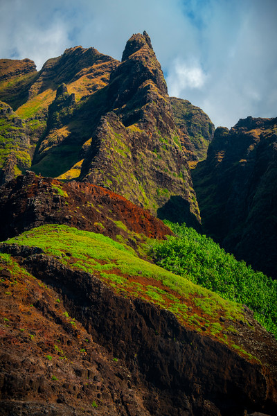 Pillars Of Time And History - Na Pali Coastline, Kauai, Hawaii